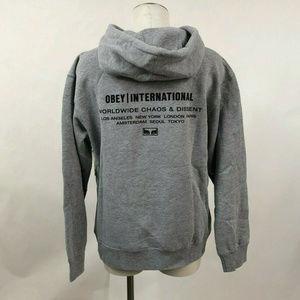 "Obey Hoodie Sweatshirt ""International Chaos"" Grey"